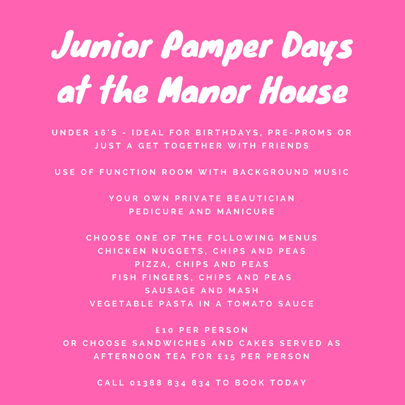 Junior Pamper Days for Under 16s